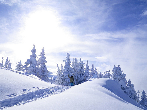 Blue skies at Whistler, Canada