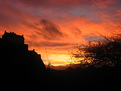 Sunset Over the Castle on a Volcano