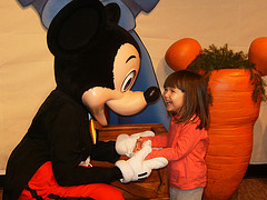Disney Mickey Mouse with child