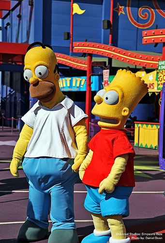 The Simpsons @ Universal Studios