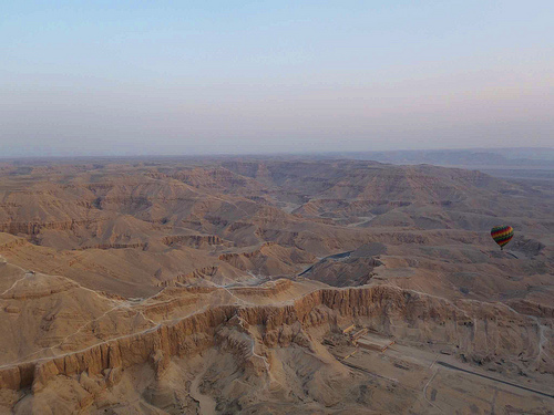 Hot Air Ballooning over the Valley of the Kings, Egypt