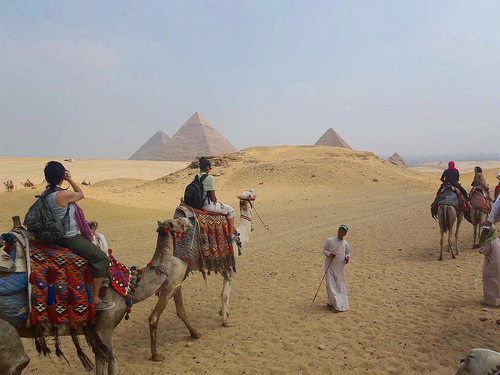 Camel Ride in Giza, Egypt
