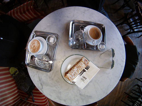 Two coffees in Vienna cafe