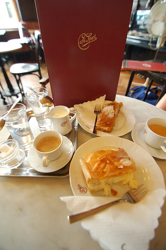 coffees and dessert, Vienna
