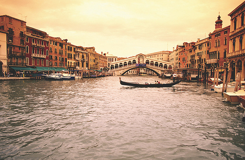 Boats in the river Italy