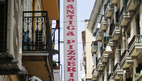 Pizzeria sign in Italy