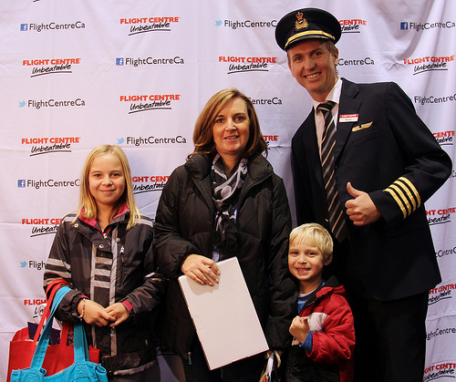 Family at the Travel Expo