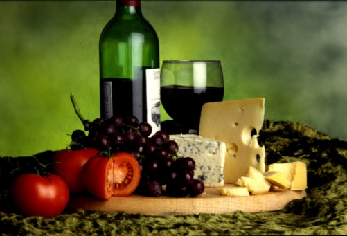 French wine and cheese platter