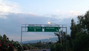 Sicilian highway signs