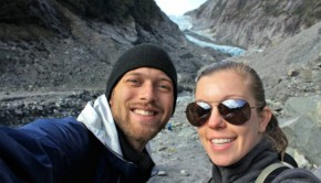 Couple selfie at Franz Josef glacier