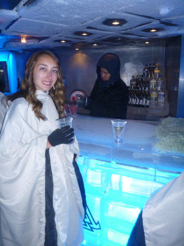 cruise ice bar