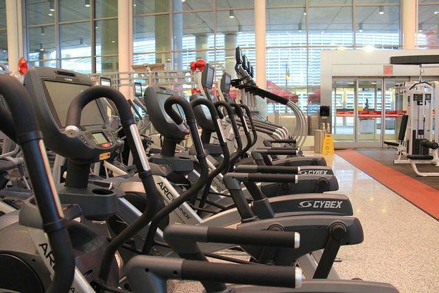 Goodlife Fitness Equipment at Toronto Pearson
