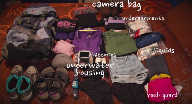 First travel photography tip : Packing Items