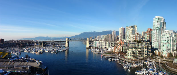 burrard bridge, vancouver, bc. spend family day in vancouver.