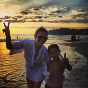 Mother and sun in Costa Rica