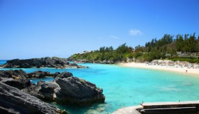 Rocky beach in Bermuda