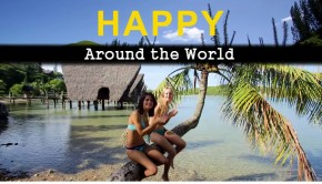Happy around the world banner