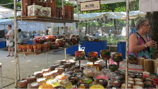 Shopping At The Ipanema Hippie Market In Rio