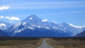 Road to Mount Cook New Zealand