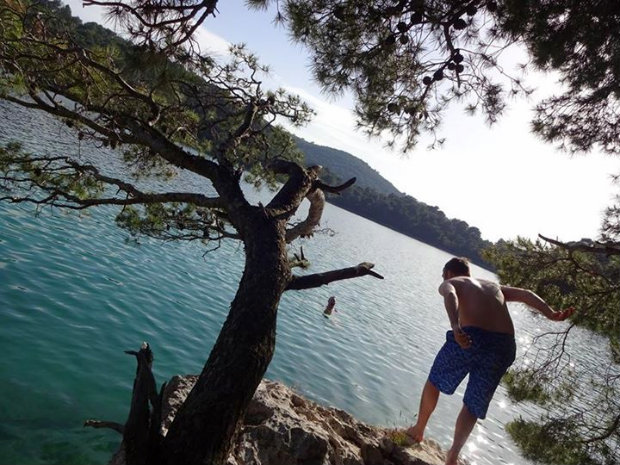 Croatia cliff jumping