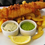 Airline food fish n chips