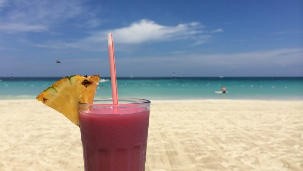 cocktail on beach in negril jamaica