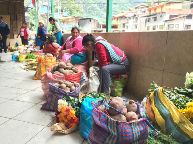 local market in Peru