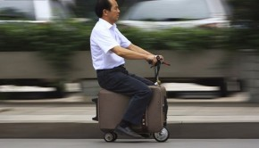luggage on wheels