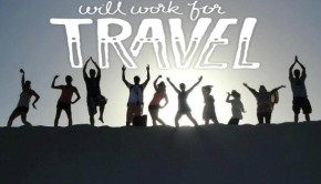 Work for travel banner