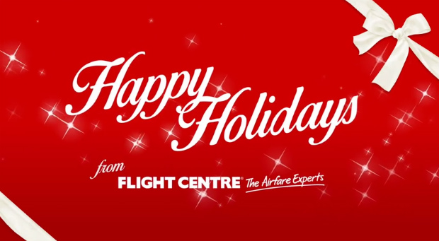 happy holidays from flight centre