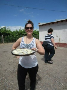 Making bread in Argentina