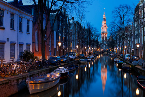 Amsterdam canal the netherlands
