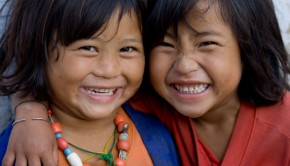 Bhutan Smiles - 2 girls
