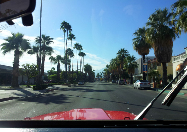 driving palm springs