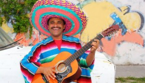 Mexican man playing guitar