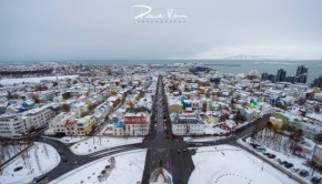 Reykjavik Iceland street and water views