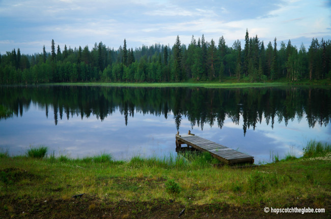 Finnish Lake lapland finland