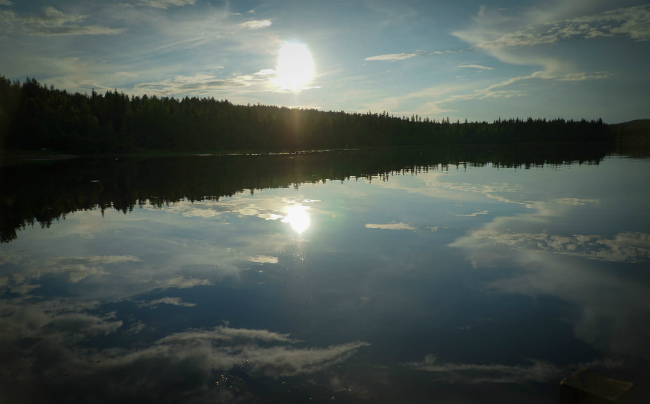 Midnight Sun in Lapland finland