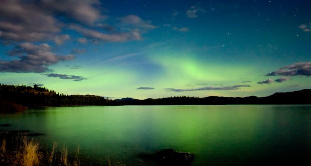 Yukon Canada Northern Lights over water