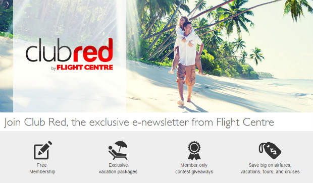 sign up to club red for exclusive deals and contests
