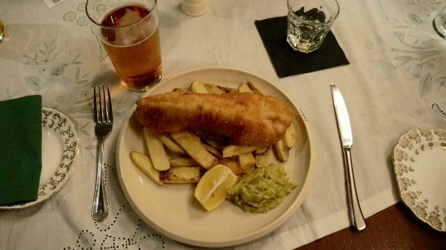 fish and chips in Scotland