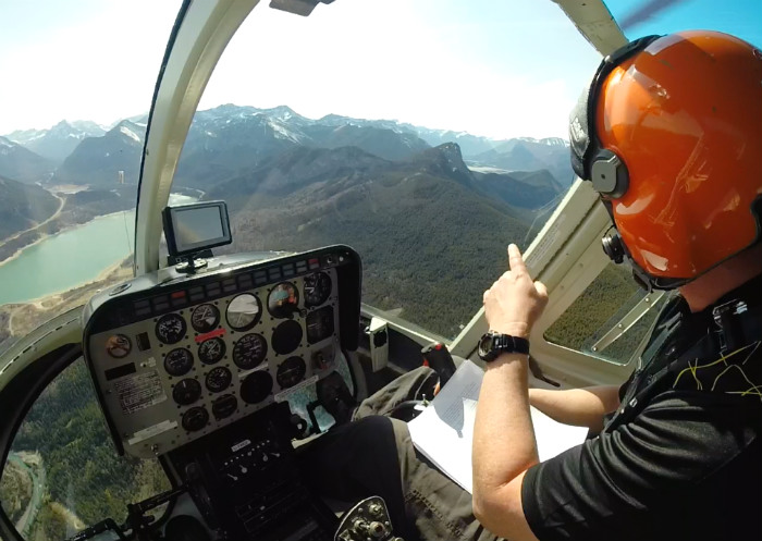 helicopter ride over rockies Alberta