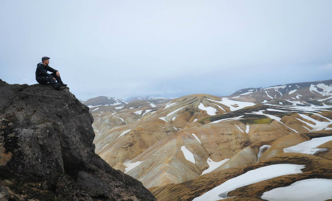 Views from a mountain in Iceland