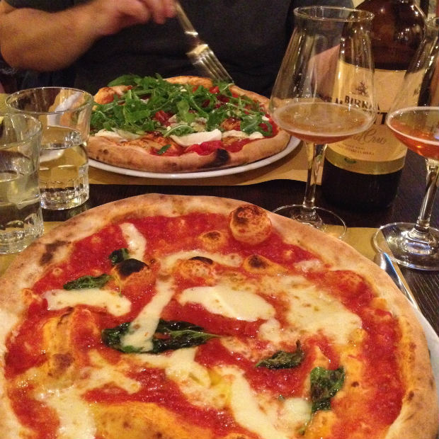 Italian pizza in Rome Italy