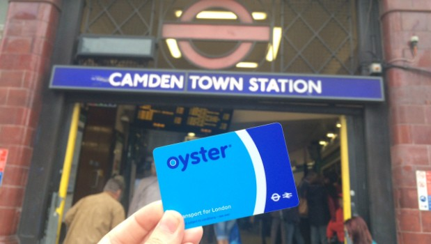 camden town oyster card london tube UK