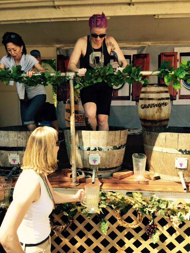 grapestomping in Grapevine Texas