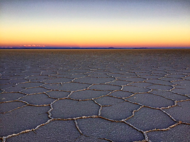 salt flats in Bolivia by Mark Novak