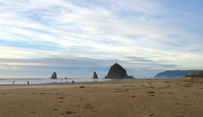 Cannon Beach Oregon clear skies