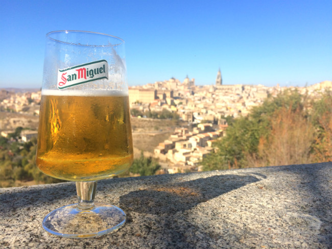 Spain beer in San Miguel glass