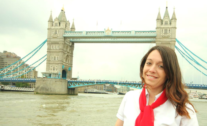 alicia at tower bridge london